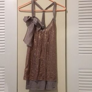 Gilly Hicks Sequin Tank Sz M
